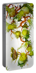 Green Fruit And Butterfly Portable Battery Charger