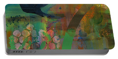 Portable Battery Charger featuring the painting Green Glory  by Robin Maria Pedrero