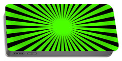 Portable Battery Charger featuring the digital art Green Harmony by Lucia Sirna
