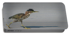 Green Heron On A Mission Portable Battery Charger