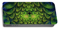 Portable Battery Charger featuring the digital art Green Island by Jutta Maria Pusl