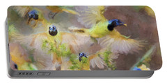 Green Jay Collage Portable Battery Charger
