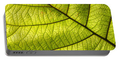 Green Leaf Closeup Portable Battery Charger