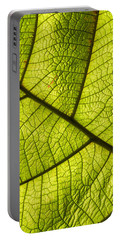 Portable Battery Charger featuring the photograph Green Leaf Closeup by Matthias Hauser