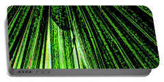Green Leaf Forest Photo Portable Battery Charger by Gina O'Brien