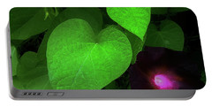 Green Leaf Violet Glow Portable Battery Charger