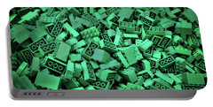 Green Lego Abstract Portable Battery Charger
