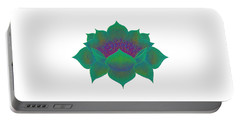 Portable Battery Charger featuring the digital art Green Lotus by Elizabeth Lock