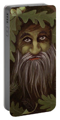 Green Man Painting Portable Battery Charger