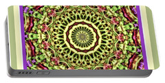 Portable Battery Charger featuring the photograph Green Mandala by Shirley Moravec