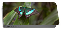 Green Moss Peacock Butterfly Portable Battery Charger