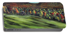 Green Mountain Retreat Portable Battery Charger by Denny Morreale
