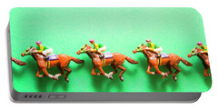 Green Paper Racecourse Portable Battery Charger
