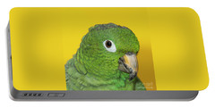 Green Parrot Head Shot Portable Battery Charger