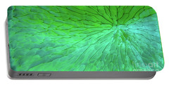 Green Pattern Under The Microscope Portable Battery Charger