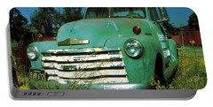 Green Pickup Truck 1959 Portable Battery Charger