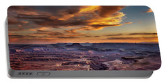 Green River Overlook At Sunset Portable Battery Charger