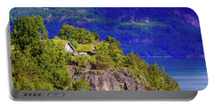 Green Roofs Of Lustrafjorden Portable Battery Charger