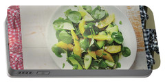Portable Battery Charger featuring the photograph Green Salad Kitchen Chef Cuisine Christmas Holidays Birthday Festivals Mom Dad Sister Friends by Navin Joshi