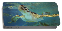 Green Sea Turtle Chelonia Mydas Portable Battery Charger