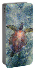 Green Sea Turtle From Above Portable Battery Charger