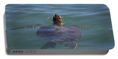 Portable Battery Charger featuring the photograph Green Sea Turtle by RKAB Works