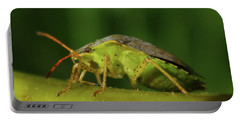Portable Battery Charger featuring the photograph Green Stink Bug by Adria Trail