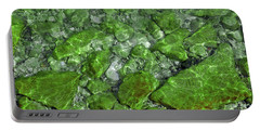 Portable Battery Charger featuring the photograph Green Stone Waters by LeeAnn McLaneGoetz McLaneGoetzStudioLLCcom