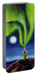 Green Tara Creating The Aurora Borealis Portable Battery Charger