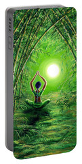 Green Tara In The Hall Of Bamboo Portable Battery Charger