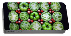 Green Tomato Slice Pattern Portable Battery Charger