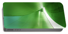 Portable Battery Charger featuring the photograph Green Tunnel. Los Angeles Series. by Ausra Huntington nee Paulauskaite