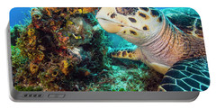 Green Turtle Profile Portable Battery Charger