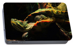 Portable Battery Charger featuring the photograph Slider Turtle by Rosalie Scanlon