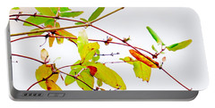 Green Twigs And Leaves Portable Battery Charger