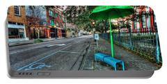 Green Umbrella Bus Stop Portable Battery Charger