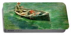 Portable Battery Charger featuring the painting Green Waters by Henry Scott Tuke