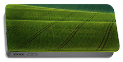 Portable Battery Charger featuring the photograph Green Waves Of Rolling Hills by Jenny Rainbow