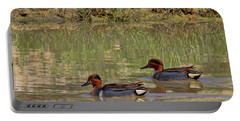 Green Winged Teal Portable Battery Charger