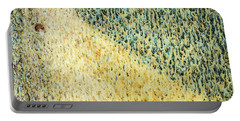 Green/yellow Abstract Two Portable Battery Charger