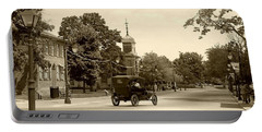 Portable Battery Charger featuring the digital art Greenfield Village Scene by Ellen O'Reilly