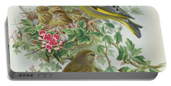 Greenfinch Portable Battery Charger by John Gould