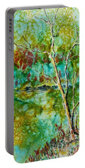 Greens Of Late Summer Portable Battery Charger by Carolyn Rosenberger