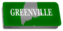 Portable Battery Charger featuring the photograph Greenville Maine State City And Town Pride  by Keith Webber Jr