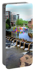 Portable Battery Charger featuring the photograph Greenville River Walk by Corinne Rhode