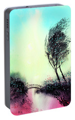 Portable Battery Charger featuring the painting Greeting 1 by Anil Nene