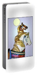 Portable Battery Charger featuring the digital art Greeting The Moon by Lise Winne