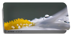 Grey And Yellow Daisy Portable Battery Charger