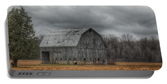 0024 - Grey Barn And Tree Portable Battery Charger