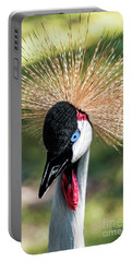 Grey Crowned Crane Gulf Shores Al 2041 Portable Battery Charger
